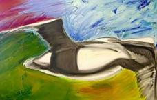 Bird of Bosporus Oil on Canvas Rose Marie Sharp de Mercado, Artist