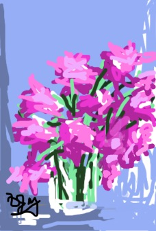 Spring has Sprung Brushes App on iPhone Diane Jay, Artist