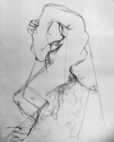 "Study on Rodin's ""Eve in Despair"" Elizabeth Hyde, Artist"